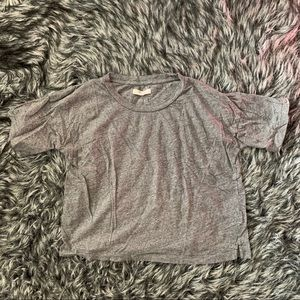 Madewell Cropped Gray T-shirt